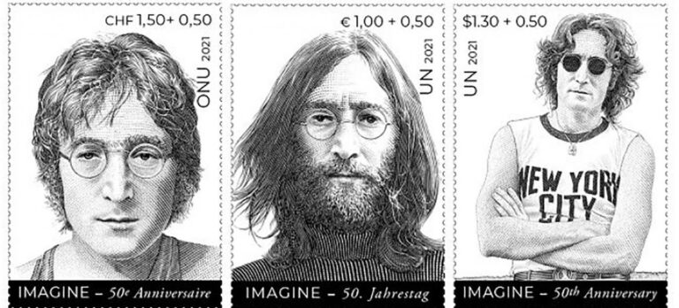 John Lennon stamps were created to promote world peace during Peace Week in late September