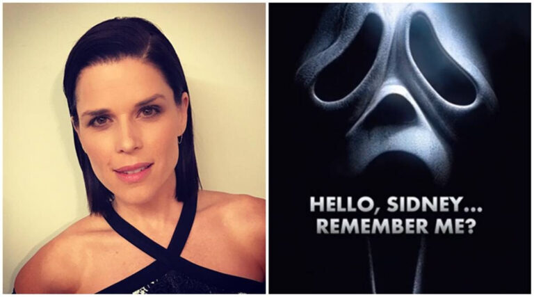 The trio Neve Campbell, Courteney Cox and David Arquette together again for Scream Returns